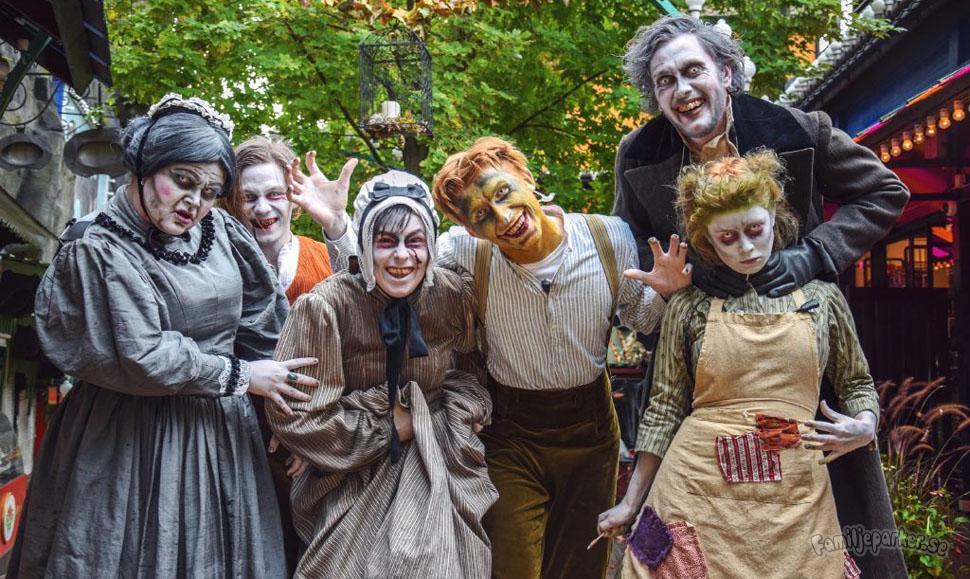 Halloween på Tivoli i Köpenhamn