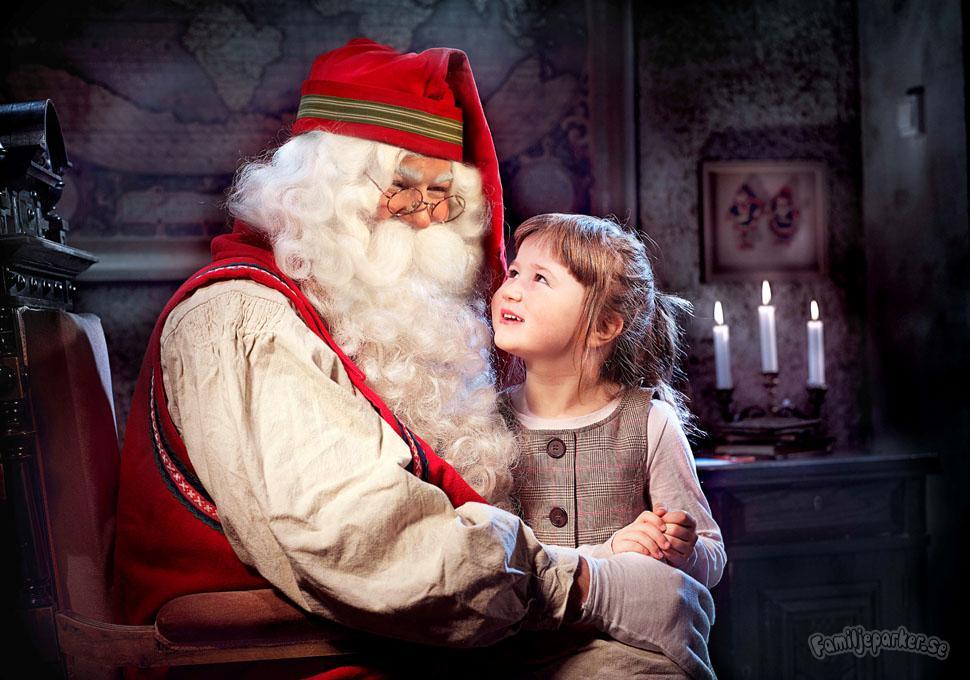 Vi drar till tomten på julafton!