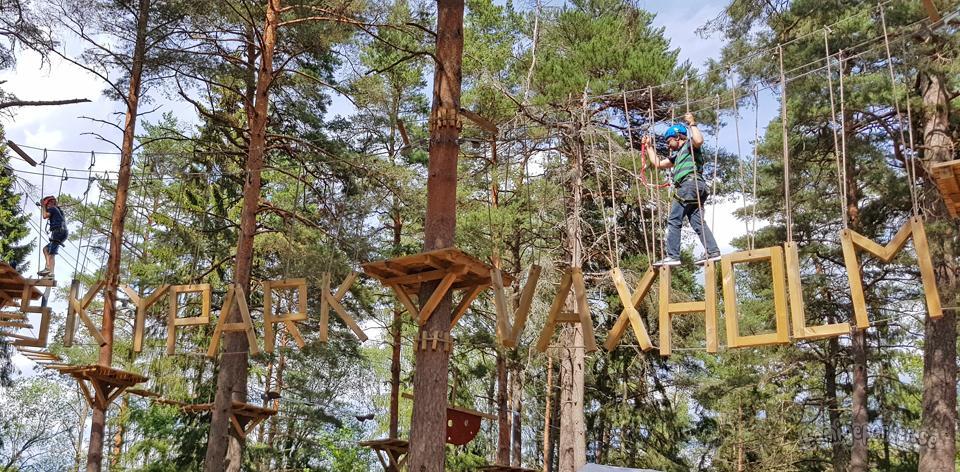 Skypark, en hisnande utmaning bland trädtopparna