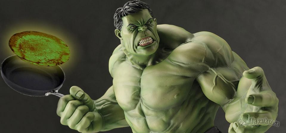 Hulken-pannkakor (gröna som man blir stark av)